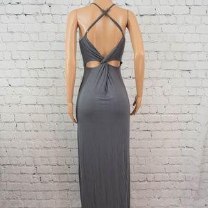 Tobi grey open back maxi dress